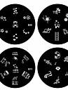 1pcs nail art carimbo de imagem da placa de estampagem modelo b serie no.9-12 (padrao assorted)