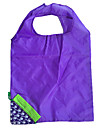 eco-friendly uva azul saco de compras dobrável projeto