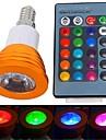 3W E14 Spot LED 1 LED Haute Puissance 180 lm RGB Commandee a Distance AC 85-265 V