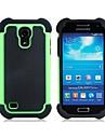 Híbrido Heavy Duty Rugged Hard y Soft Volver Funda para el Samsung Galaxy S4 Mini I9190(Assorted Colors)