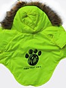Cat / Dog Hoodie Green Dog Clothes Winter Letter & Number