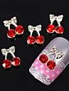 3 차원 모조 다이아몬드 합금 네일 아트 장식 bowknot 10PCS 벚꽃 나비
