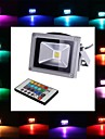 4w led floodlight 1 integre led 900 lm rgb telecommande ac 85-265 v