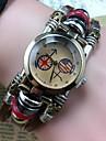 Women\'s Retro High Quality Round Header Leather Quartz Movement Bracelet Watches