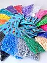 около 500 шт / мешок 5мм предохранителей бусины Hama бисер DIY головоломки Ева материал Сафти для детей (ассорти 6 цветов, b17-b24)