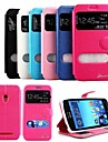 KARZEA™ Shiny Double Windows Pattern TPU and PU Leather Case with Stand and Stylus for Asus ZenFone5