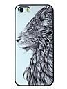 impresionante patron leon pc caso duro para el iphone 5 / 5s