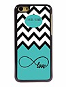 Personalized Gift Sea Wave and Love Design Metal Case for iPhone 5C