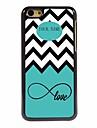 아이폰 5C를위한 개인화 된 선물 바다 물결과 사랑 디자인 금속 케이스