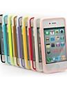 xundd solide TPU de couleur transparente ultra-mince avec couvercle peut toucher cas du corps entier pour iPhone 4 / 4S