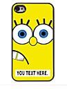 bande dessinée de cas personnalisée jaune cas design en métal pour iPhone 4 / 4S