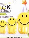 3 шт многофункциональный улыбаться прекрасный семейный крюк (случайный цвет)