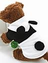 Perros Disfraces / Saco y Capucha / Bandanas y Sombreros Negro / Blanco Invierno Animal Cosplay / Halloween