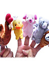 5PCS The Little Red Hen Story Plush Finger Puppets Kids Talk Prop