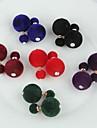 Boucle Boucles d\'oreille goujon Bijoux Mariage / Soiree / Quotidien / Decontracte Alliage / TissuCafe / Noir / Blanc / Bleu / Vert /
