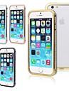 Para Capinha iPhone 6 / Capinha iPhone 6 Plus Com Strass Capinha Protetora de Quinas Capinha Cor Unica Rigida MetaliPhone 6s Plus/6 Plus