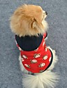 Gatos / Caes Camisola com Capuz Vermelho Roupas para Caes Inverno Desenhos Animados Casamento / Fantasias