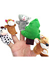 12PCS The Gingerbread Man Plush Finger Puppets Kids Talk Prop