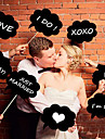 10 PCS Photo Booth Props on a Hard Card Paper Clouds Sticker