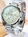 orologi da uomo semplice moda in acciaio generoso cinghia (colori assortiti)