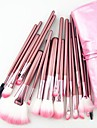 22PCS Nylon Hair Professional Pink Handle Makeup Brushes Set With Pink Bag