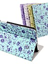DF® Luxury Supper Slip Auto Sleep/Wake Up Little Flower  PU Leather Full Body Case for iPad 2/3/4 (Assorted Colors)