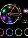 Sykkellykter , hjul lys - 2 Modus 300 Lumens Farger skiftende Batteri Sykling/Sykkel Groenn / Blaa / Roed Bike