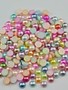 2000PCS Mixs Color Flatback Semicircle Pearl Gems 3mm Handmade DIY Craft Material/Clothing Accessories