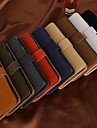 Fashion Solid Color Wallet Style PU Full Body Cover for iPhone 5C