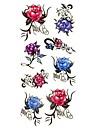 1pc Small Rose Flower Waterproof Body Art Tattoo Pattern Temporary Tattoos Sticker(18.5cm*8.5cm)