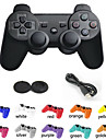 USD $ 26,99 – Kabelloser, dualer Shock Bluetooth-Game-Controller + Analog Joystick-Knopf-Schutz fuer Sony PS3