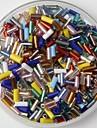 350pcs многоцветная стеклянная трубка пони бисер 2 мм ручной DIY Craft аксессуары Материал / одежды