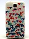 For Samsung Galaxy Case Pattern Case Back Cover Case Heart TPU Samsung S5 Mini