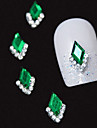 10PCS 녹색 후작 차원 모조 다이아몬드 DIY 합금 액세서리 네일 아트 장식