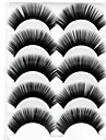 New 5 Pairs Natural Black Super Thick False Eyelashes Soft Eyelash Eye Lashes for Eye Extensions