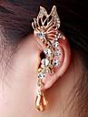 мода изысканные женщины бабочка кристалл уха манжеты случайный цвет