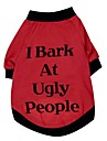 Cat / Dog Shirt / T-Shirt Red Dog Clothes Spring/Fall Letter & Number