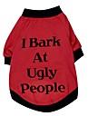 katten / honden T-shirt Rood Hondenkleding Lente/Herfst Letter & Nummer