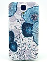 Light Blue Lotus TPU Soft Case for Samsung Galaxy S4 I9500