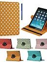 9,7 pouces de 360 degres motif de vague point de rotation avec le cas de stand et un stylo comme cadeau pour l\'air de iPad 2 (couleurs