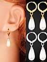 Earring Drop Earrings Jewelry Wedding / Party / Daily / Casual / Sports Imitation Pearl / Platinum Plated / Gold PlatedGold / Silver /