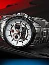 남자의 다기능 2 시간대 스테인레스 스틸 밴드 50m 방수 스포츠 손목 시계 (모듬 색상)
