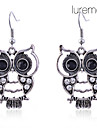 Drop Earrings Alloy Simulated Diamond Animal Shape Owl Jewelry Daily