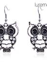 Women\'s Drop Earrings Luxury Costume Jewelry Imitation Diamond Alloy Animal Shape Owl Jewelry For Daily