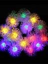 20 leds avec boule de poils lampes solaires (couleurs assorties)