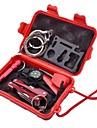 Survival Kit / Fire Starter / Compassi / Multitools / fischio di sopravvivenza / Con fibbia / Coltelli- diABS-Rosso
