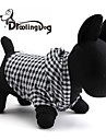 Cat / Dog Hoodie Black Dog Clothes Spring/Fall Plaid/Check