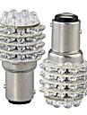2шт автомобиля 1157 BA15S включите Лампа сигнала парковка хвост желтый 45 светодиодные лампы 12v