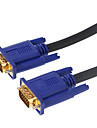 5M 16.4FT VGA 15Pin Male to Male VGA Gold-Plate HD TV Computer Projector Data Connection Cable - Black