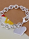 Heart Shpae  925 Silver Bracelet (1PC) Christmas Gifts